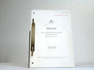 Wähler. Edelmetall-Motor-Drehwähler (EMD). 4 Listen aus 1960: Siemens Fernsprech Technik