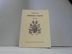 Verzeichnis der Nachkommen Ruprecht bis 1985: Ruprecht, Familie