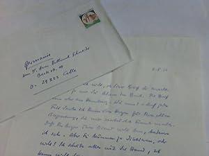 Handschriftlicher Brief,: Rinser, Luise (deutsche Schriftstellerin) 30.4.1911 Landsberg am Lech - ...