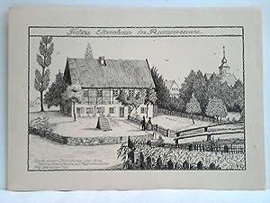 Fichtes Elternhaus im Rammenau - Federzeichnung, nach einer Abbildung aus dem Heimatmuseum zu ...