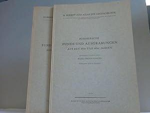 Pommersche Funde und Ausgrabungen aus den 30er und 40er Jahren. Text- und Tafelband. 2 Bände: ...