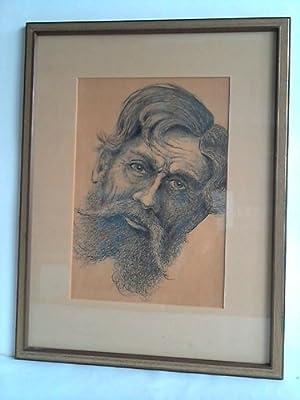 Bärtiger Männerkopf aus Russland - Federzeichnung: Anonym - Portrait
