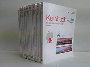 Kursbuch 2001/2002. Gültig vom 10.06.2001 bis 15.06.2002 - 8 Bände und 1 Heft: ...