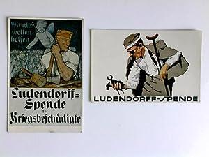 2 verschiedene Postkarten - Ludendorff-Spende für Kriegsbeschädigte: Ludendorff-Spende