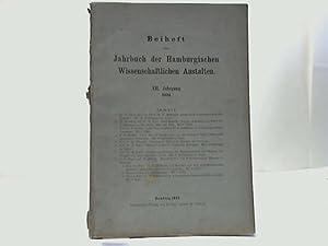 XII. Jahrgang 1894: Beiheft zum Jahrbuch der Hamburgischen Wissenschaftlichen Anstalten