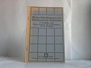 Meine Erfahrungen als Briefmarkensammler: Conrad, Walter/Kretschmar, H./Lehmann, A.