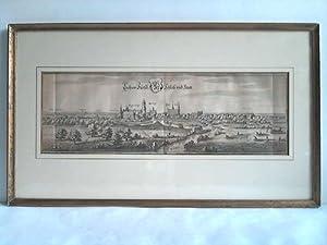 Luchaw Fürstl. Schloss und Statt - Kupferstich mit Wappen: L�chow / Wendland