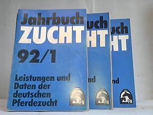 Jahrbuch Zucht. Leistungen und Daten der deutschen Pferdezucht. Jahrgang 1992. Band 1 - 3. 3 B&auml...
