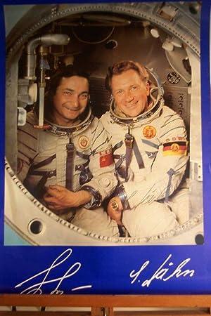 Waleri Bykowski und Sigmund Jähn: Raumfahrt-Plakat