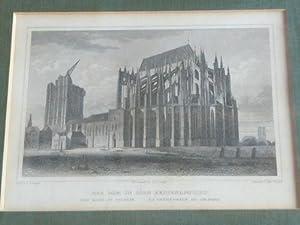 Der Dom in Cöln (Seitenansicht). La cathedrale de Cologne: Köln