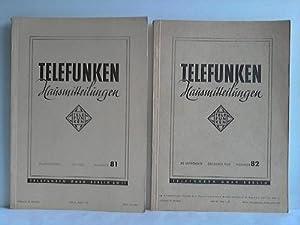 Telefunken Hausmitteilungen. 2 Hefte: Telefunken - Gesellschaft für drahtlose Telegraphie mbH, ...