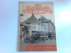Alleinige amtliche Zeitschrift des RKI, 24. Jahrgang 1936, Heft Nr. 6: Motor