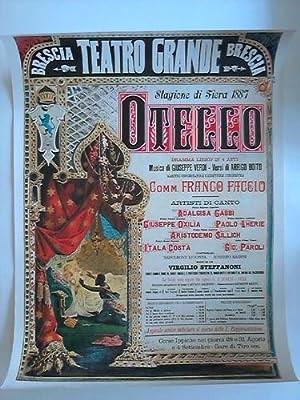 """Otello. Dramma Lirico in 4 Atti. Musica di Giuseppe Verdi - Versi di Arrigo Boito"""" - Plakat im..."""