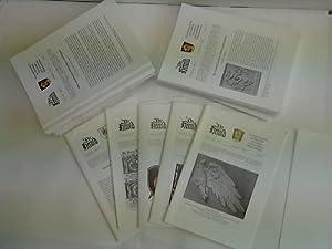 Vierteljahresschrift für Heraldik, Genealogie und verwandte Wissenschaften. Sammlung von 36 ...
