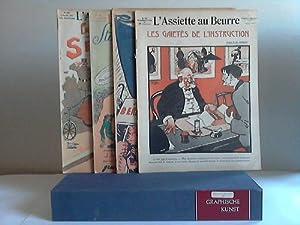 30 Einzelhefte vom 26.9.1908 bis zum 14.9.1909: L'Assiette au Beurre