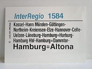 InterRegio 1584 / 1587: Deutsche Bundesbahn - Zuglaufschild