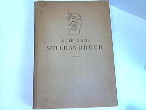 Stilhandbuch. Ornamentik, Möbel, Innenausbau von den ältesten Zeiten bis zum Biedermeier:...