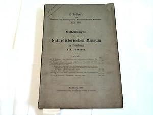 Naturhistorischen Museum in Hamburg: Mitteilungen aus dem