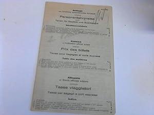 Beilage zum amtlichen schweizerischen Kursbuch enthaltend Personnfahrpreise: Schweizer Kursbuch