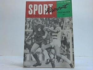 """Karlsruher SC"""" von Kurt Schauppmeier. Serie A, Band 13: Sport Report"""