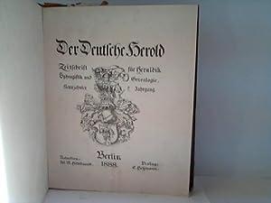Zeitschrift für Heraldik, Sphragistik und Genealogie. 19. Jahrgang: Deutsche Herold, Der