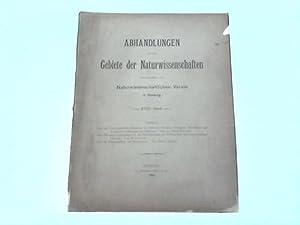 Hrsg. vom Naturwissenschaftlichen Verein in Hamburg. XVIII. Band: Abhandlungen aus dem Gebiete der ...