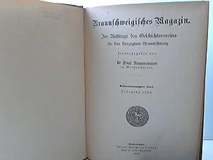 Braunschweigisches Magazin. 26., 27. und 28. Band: Braunschweig - Zimmermann, Paul (Hrsg.)