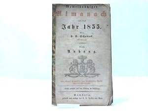 Auf das Jahr 1855. Von F.E. Schuback. Nebst Anhang: Hamburg- Gemeinnütziger Almanach