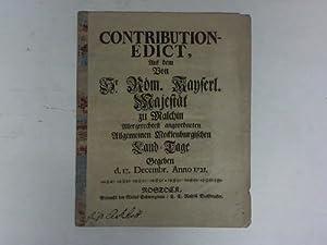 Contribution - Edict vom 17. Dezember 1721: Mecklenburg - Karl VI. (R�misch-Deutscher Kaiser)