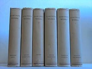 Im Auftrag der Goethe-Gesellschaft herausgegeben: Goethes Werke in sechs Bänden