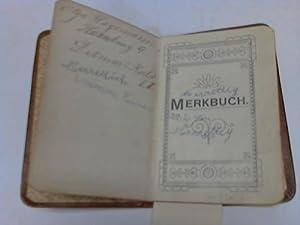 Vollgeschriebenes Kalenderbüchlein: Einband - Merkbuch - Mein Adjudant