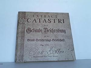 Extract Catastri der Gebäude-Beschreibung zu der Brand-Versicherungs-Gesellschafft. Pag. 1753:...
