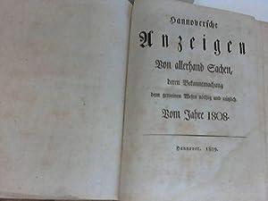 Hannoversche Anzeigen vom Jahre 1808: Hannover-Georg III, König von Groß-Britannien