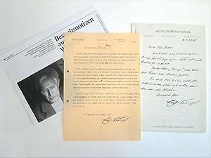 1 maschineller Brief mit eigenhändigen kleinen Korrekturen: Jünger, Ernst