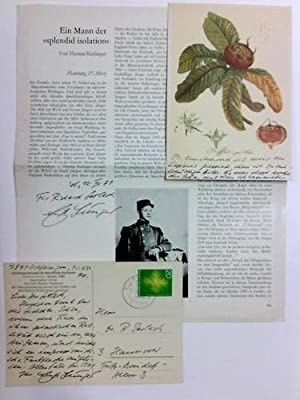 2 eigenhändige Bildpostkarten mit Unterschrift, Wilflingen, 12.: Jünger, Ernst