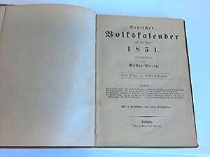 Deutscher Volkskalender auf das Jahr 1851: Nieritz, Gustav