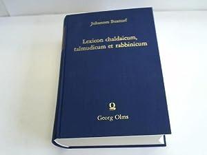 Lexicon chaldaicum, talmudicum et rabbinicum: Buxtorf, Johannes