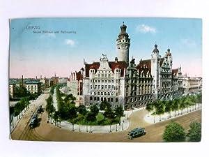 1 Postkarte: Leipzig - Neues Rathaus und Rathausring: Leipzig