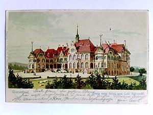 1 Postkarte: Marienbad - Gruss vom Hotel und Café Rübezahl: Marienbad