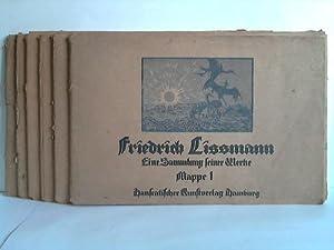 Eine Sammlung seiner Werke in 6 Mappen mit jeweils 12 Bildern: Lissmann, Friedrich