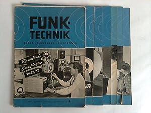 7. Jahrgang; Nr. 16 - 24 / 1952. 9 Hefte: Funk-Technik