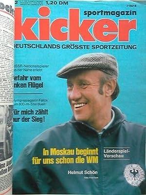 Jahrgang 1973, 104 Nummern in 2 Ordnern: Kicker-Sportmagazin