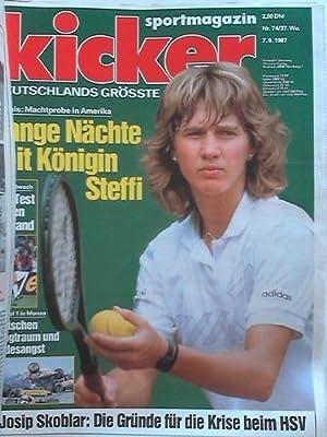 Jahrgang 1987, 107 Nummern in 3 Ordnern: Kicker-Sportmagazin