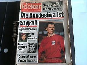 Sammlung von 19 Heften aus 1968, davon 6 Hefte komplett: Kicker. deutschlands größte Sportzeitung