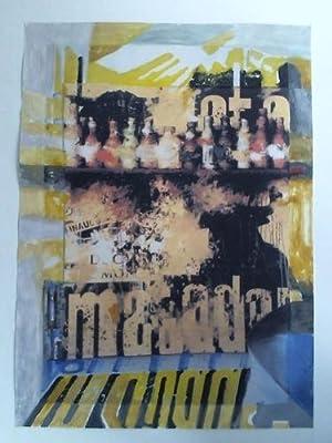 1 Collage: Flaschenregal - Malerei auf Farbdruck von Photographie: Dobe, Hans (1926 Danzig - 2013 ...