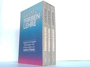 Faben Lehre. 3 Bänden: Goethe Johann Wolfgang