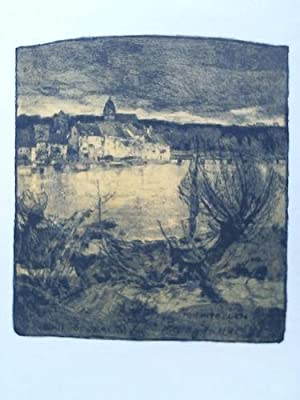 Rheinfelden, Gesamtansicht - Colorierte Lithographie: Nikutowski, Erich (D�sseldorf 1872 - Kaub ...