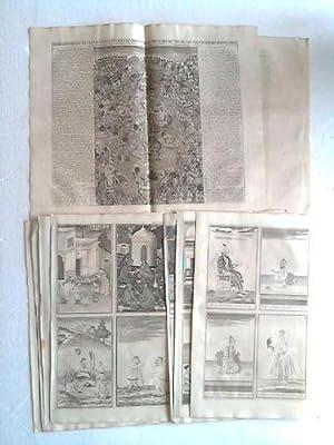Sammlung von 9 Kupfertafeln: Asien