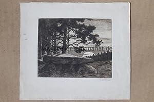 """Zu H. Löhns """"Mein braunes Buch"""" - Original Kaltnadel-Radierung, unten recht ..."""