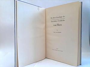 Die ältere Genealogie des aus dem Erzstift Bremen stammenden schwedischen Geschlechts von Horn: ...